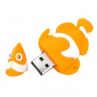 XY-20 Goldfish stil USB 2.0 Flash Drive - gul + vit (8GB)