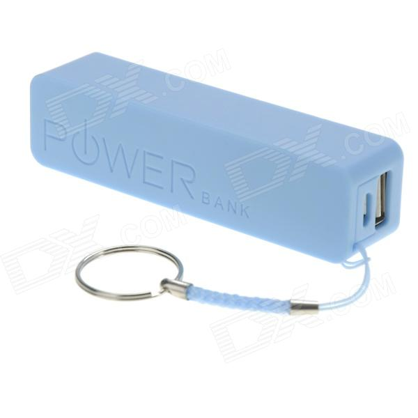 2600mAh External Battery Mobile Power Bank - Blue (Lemon Scent) a5 rechargeable 2600mah portable mobile power bank blue