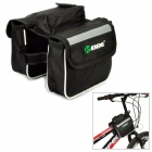 Multifunction Polyester + Mesh Fabric Bicycle / Bike Top Tube Dual-side Store Bag - Black