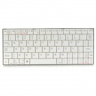 HB-2000 80-Key Mini Ultra-thin Bluetooth V3.0 Keyboard for Android - White