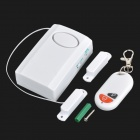 Gate Magnetism Remote Control Wireless Anti-Burglar Alarm for House / Cars - White (1 x 9V)
