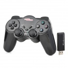 Kabelloser DualShock Analog + Digital PC Game Controller - Schwarz
