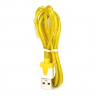 USB 2.0 to 30-Pin Data/Charging Cable w/ LED Flashing for iPhone 4 / 4S / The New iPad - Yellow