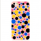 Colorful Polka Dot Style Protective Plastic Back Case for Iphone 5 - Pink