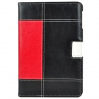 Protective PU Leather Case Stand w/ Auto Wake-up / Sleep for iPad Mini - White + Red + Black