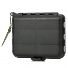 FY4.8 Plastic Fishing Accessories Storage Box w/ Separating Cards - Black