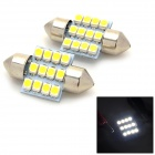 Festoon 31mm 1.2W 48lm 12-SMD 1210 LED White Light Car Reading Lamps / Door Lamps - (12V / 2 PCS)