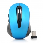 CZ-011 Wireless / Wired 2.4GHz USB 2.0 800 / 1200 / 1600 dpi Optical Mouse - Black + Blue