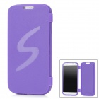 Protective TPU Flip Open Case for Samsung i9500 Galaxy S4 - Purple