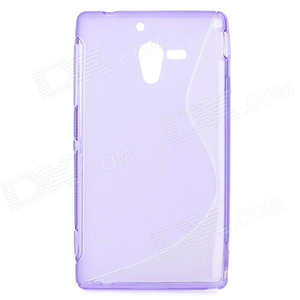 Protective TPU Back Case for Sony Xperia ZL / LT35h / L35H - Translucent Purple protective tpu back case for sony xperia zl lt35h l35h blue