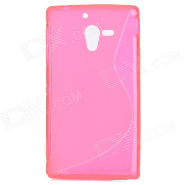 Protective TPU Back Case for Sony Xperia ZL / LT35h / L35H - Translucent Deep Pink protective tpu back case for sony xperia zl lt35h l35h blue
