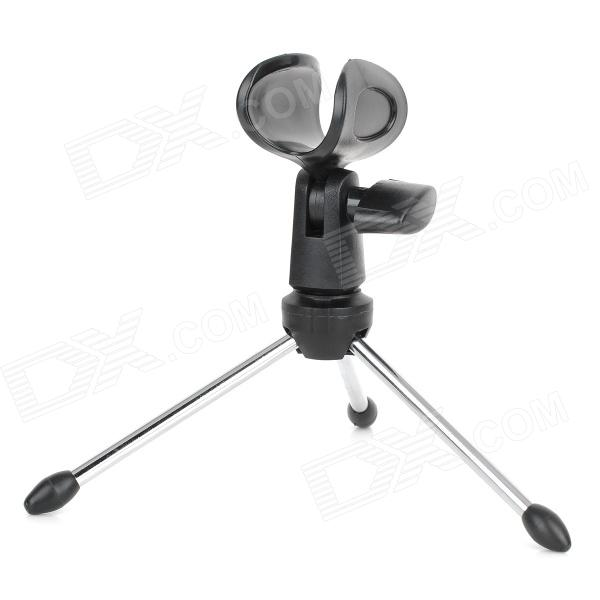 KT29S Desktop Speech Microphone Tripod Holder / Stand - Black + Silver