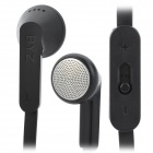 BZY MS-1200 In-ear Headphone w/ Volume Control Key for Ipad / MP3 / MP4 - Black