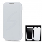 Protective TPU Flip Open Case for Samsung i9500 Galaxy S4 - White