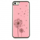 Rhinestone Dandelion Pattern Protective Plastic Back Case for iPhone 5 - Pink