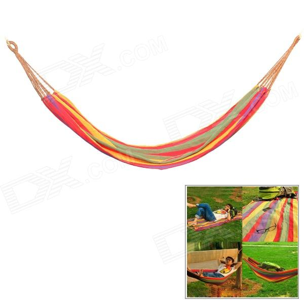 CoolChange FBDC001 Outdoor Camping Portable Single Person Nylon Swing Hammock - Multicolored 2 people portable parachute hammock outdoor survival camping hammocks garden leisure travel double hanging swing 2 6m 1 4m 3m 2m