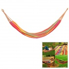 CoolChange FBDC001 Outdoor Camping Portable Single Person Nylon Swing Hammock - Multicolored