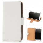 Stylish Flip-Open Artificial Leather Stand Case for Samsung Galaxy S4 / i9500 - White
