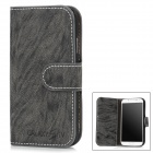 Protective Tree Pattern PU Leather Case for Samsung Galaxy S4 / i9500 - Black