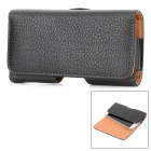 Stylish Flip-Open PU Waistband Case for Samsung i9250 / 9500 / i9300 - Black