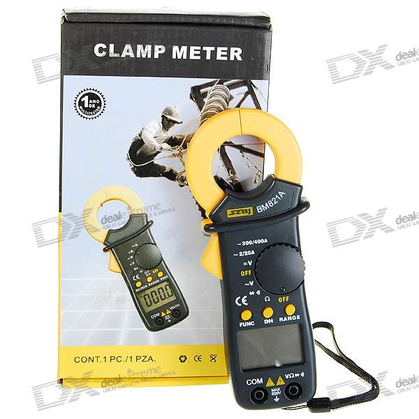 Clamp Style Multimeter : Quot lcd clamp style digital multimeter with pouch ac dc
