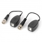 Twisted Pair Video Balun Transceivers - Black + Silver