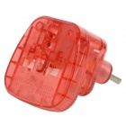 Travelplug WAS-9C 2200W Power EU / 2-Round-Pin Plug Adapter - Translucent Red (AC 100~250V)