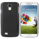 Protective Aluminum Alloy Wiredrawing Back Case for Samsung i9500 Galaxy S4 - Black