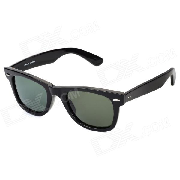 Eyeshine 2140 UV400 Protection Polarized Resin Lens Sunglasses - Black stylish uv400 protection polarized sunglasses black green