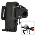 Cycling Bike / Bicycle Plastic Holder Set for Cellphone / GPS / MP4 - Black