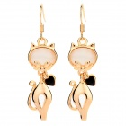 Decorative Kitty Shape Earrings - Golden (2 PCS)