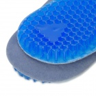 Silicone + Pile Shoe Sole Pad / Removable Insole for Men - Blue + Grey (Size 43 / Pair)