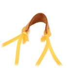 G-56 Latex Tubular Bands w/ Leather Pad / Pouch for Slingshot - Yellow + Brown (5 PCS)