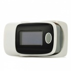"1.1"" LCD Digital Clip-On Finger Pulse Oxygen / Blood Oximeter - Grey + Black + White (2 x AAA)"