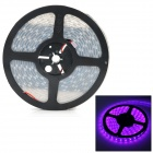 JR-5050-60-FHS 60W 1500lm 300-SMD 5050 LED Pink Light Flexible Light Strip - Black + White (500cm)