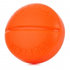 2027 Round Portable Mini 4-compartment Pill Storage Box - Orange