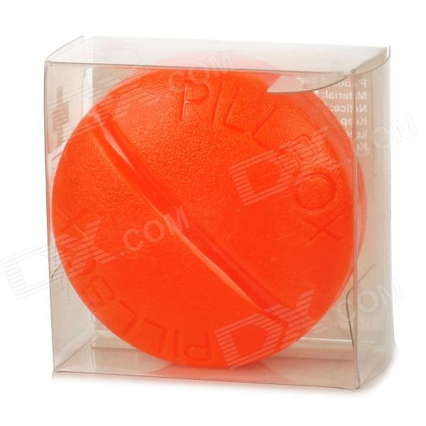 2027 round portable mini 4 compartment pill storage box orange free shipping dealextreme. Black Bedroom Furniture Sets. Home Design Ideas