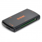 SSK SCRM059 High Speed 5Gbps USB 3.0 SD, Micro SD / TF / MS / CF Card Reader - Black (64GB)
