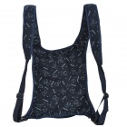 Multi-Function Portable Comfortable Cotton Baby Carrier Sling Bag - Deep Blue + White