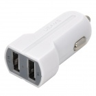 USAMS US31CCB02 Dual USB Car Cigarette Lighter Power Charger - White (12~24V)