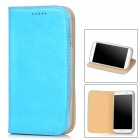 AEJ Ultrathin Protective PU Leather + TPU Case for Samsung Galaxy S4 i9500 - Blue