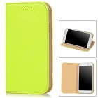 AEJ Ultrathin Protective PU Leather + TPU Case for Samsung Galaxy S4 i9500 - Fluorescent Yellow