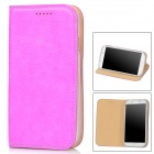 AEJ Ultrathin Protective PU Leather + TPU Case for Samsung Galaxy S4 i9500 - Magenta