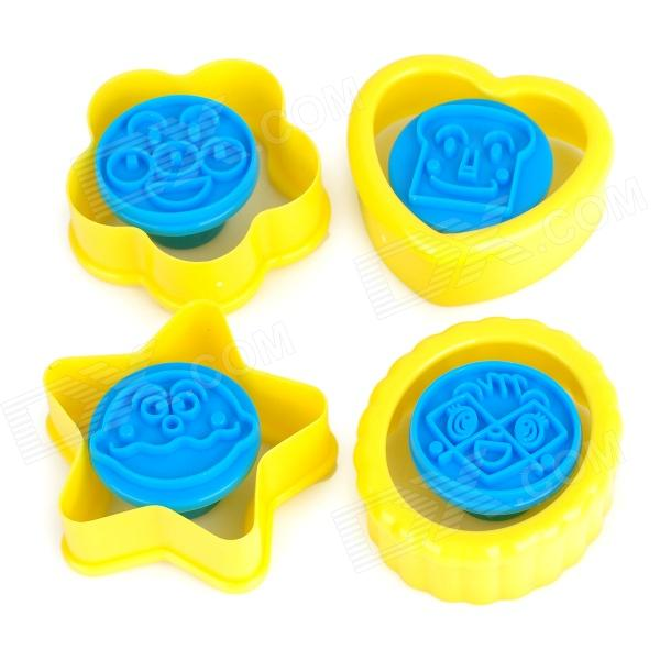 Zheng De ZD13544 DIY ABS Plastic Cookie Pastry Mold - Blue + Yellow kitchen tools plastic meat diy mold