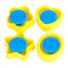 Zheng De ZD13544 DIY ABS Plastic Cookie Pastry Mold - Blue + Yellow