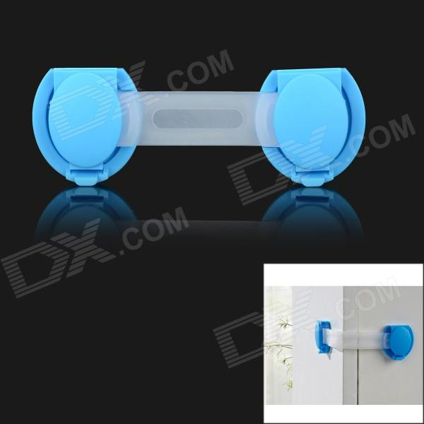 XY-02 Baby Drawer Safety Lock for Door Cabinet Refrigerator Window - Blue + Transparent g