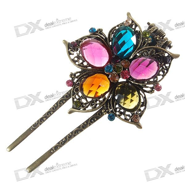 Charming Vintage Crystal Hair Pin/Clip