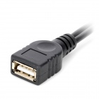 CY U2-166 USB Female to Micro USB Female + Micro USB Male Adapter Cable - Black (15cm)