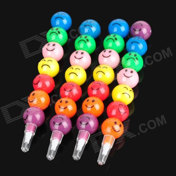 ZX-0368 Stick of Sugar-coated Haws Style Pencil - Colorful (4 PCS)