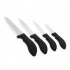 "3"" / 4"" / 5"" / 6"" Ceramic Kitchen Knife Set - Black"
